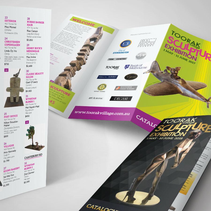 Toorak Village Brochure Design